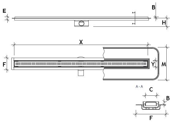 Premium Slim technical drawing