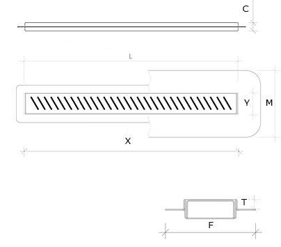 Duschrinne Technische Zeichnung